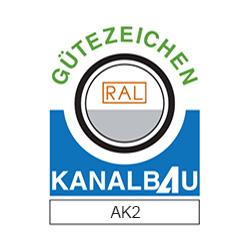 Gütezeichen Kanalbau AK2